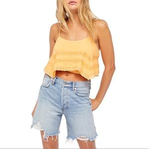 Free People Home Again Tie Back Crop Camisole